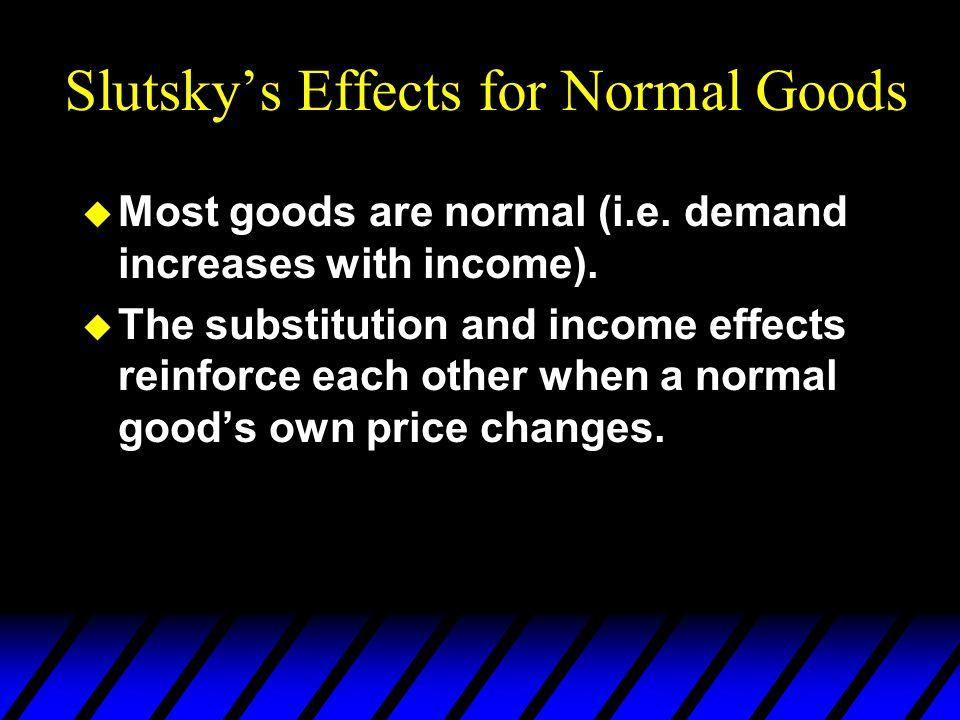 Slutsky's Effects for Normal Goods