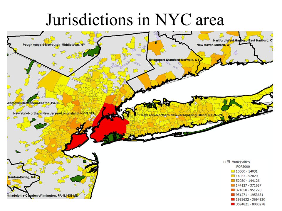 Jurisdictions in NYC area