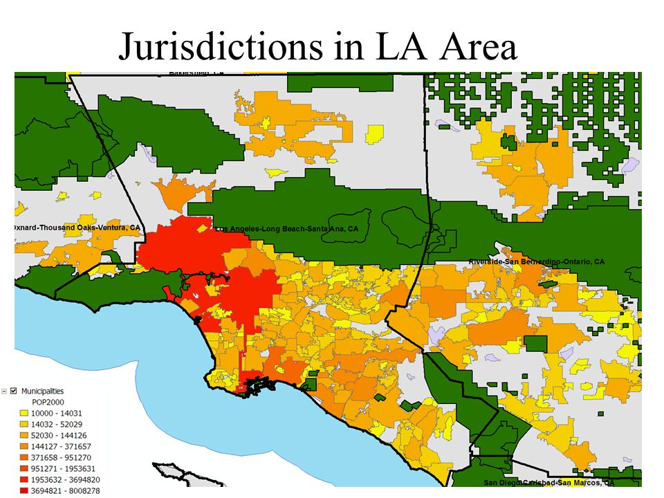 Jurisdictions in LA Area