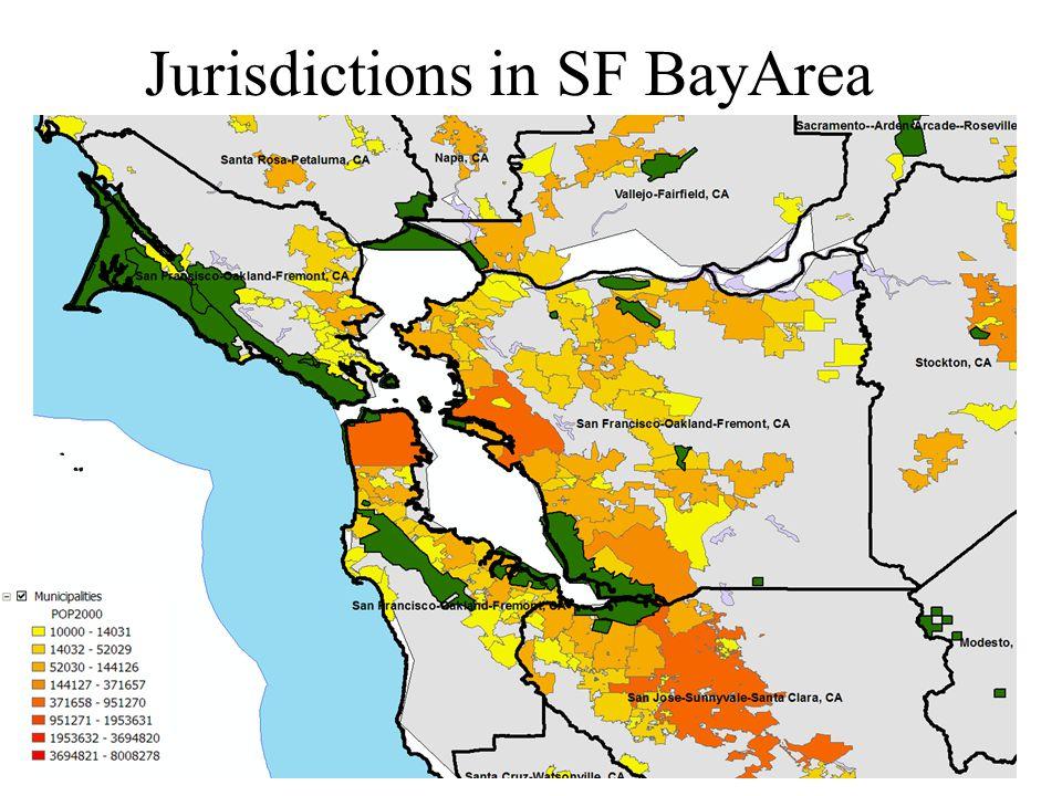 Jurisdictions in SF BayArea