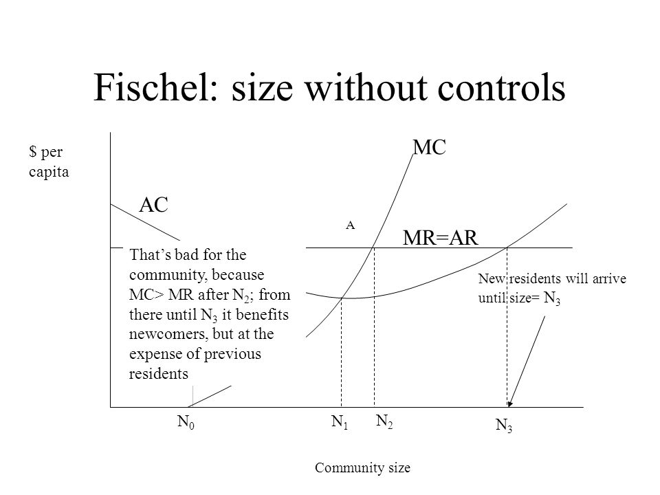 Fischel: size without controls