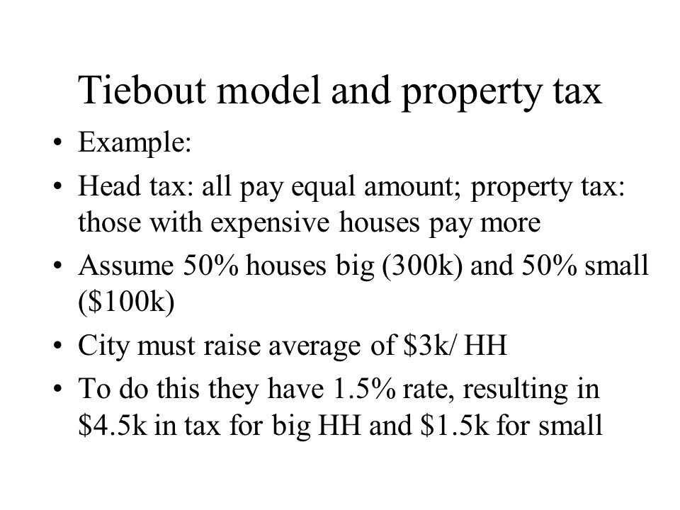 Tiebout model and property tax