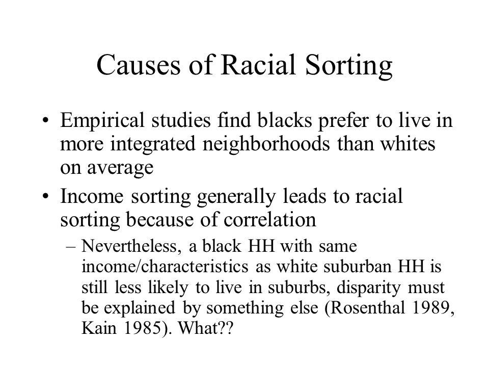 Causes of Racial Sorting