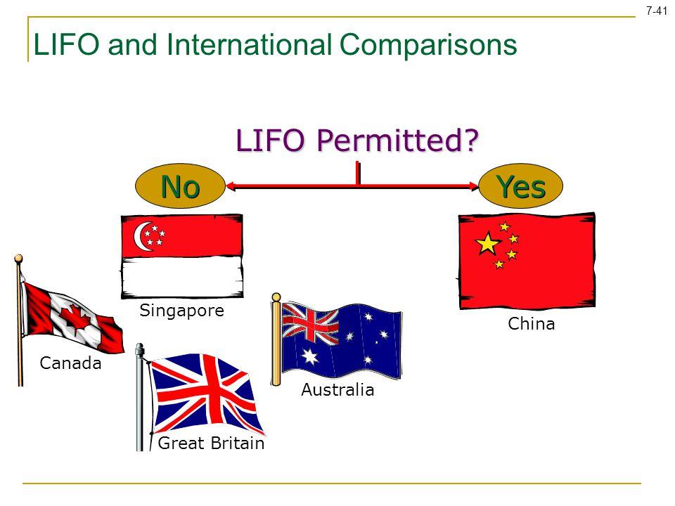 LIFO and International Comparisons
