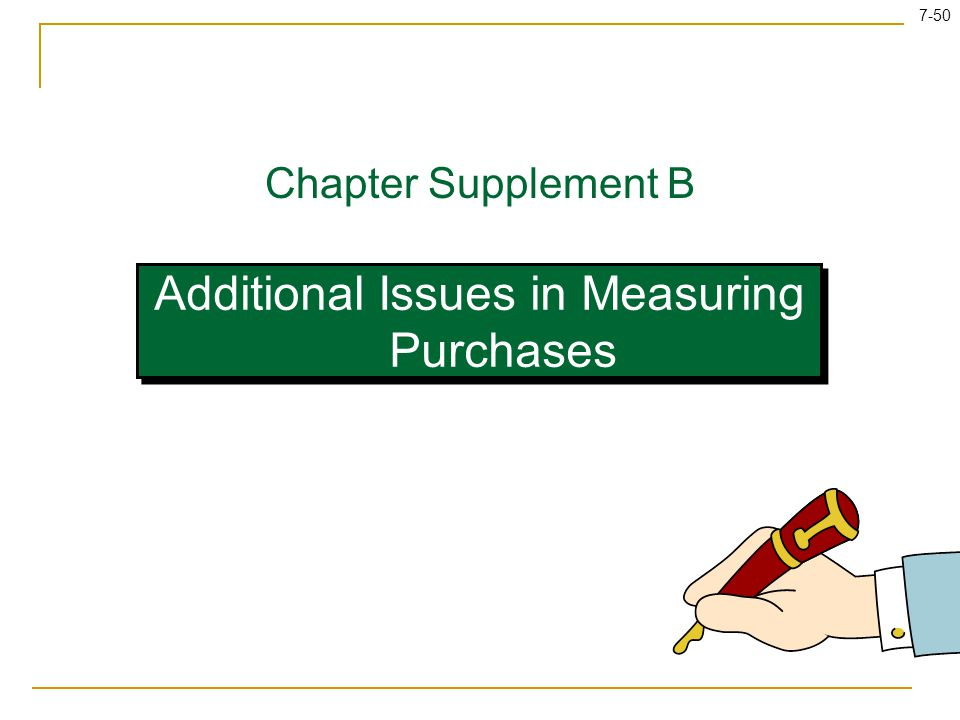 Additional Issues in Measuring Purchases