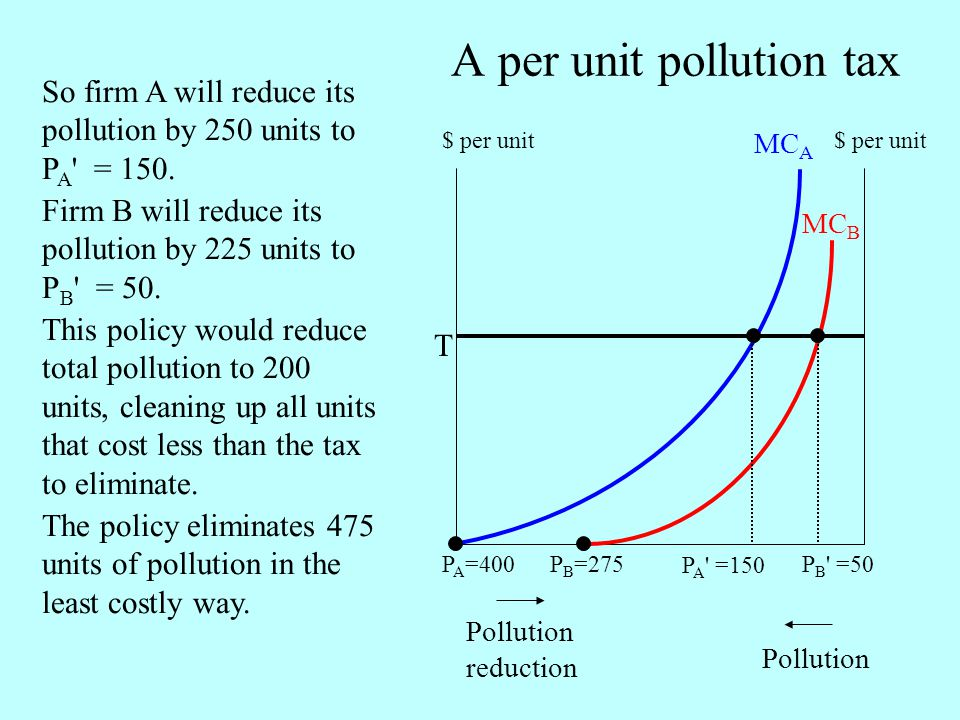 A per unit pollution tax