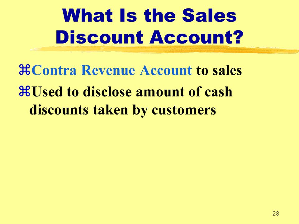 What Is the Sales Discount Account