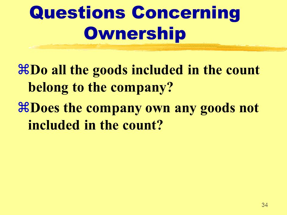 Questions Concerning Ownership