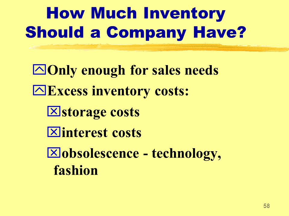 How Much Inventory Should a Company Have
