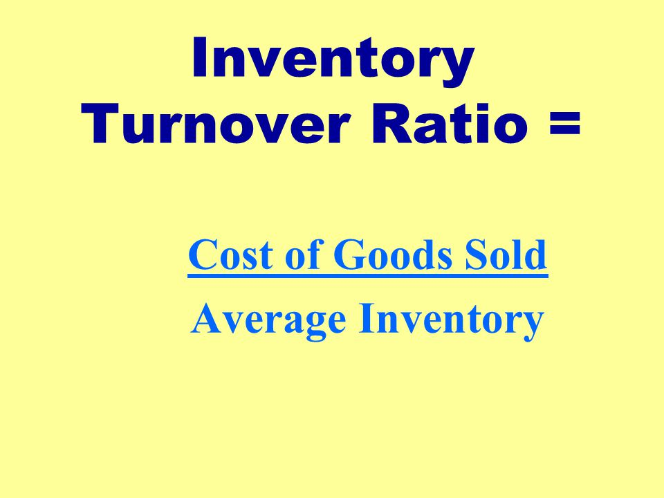 Inventory Turnover Ratio =