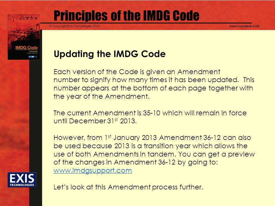 Principles of the IMDG Code