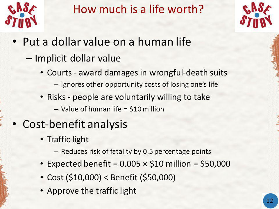 Put a dollar value on a human life
