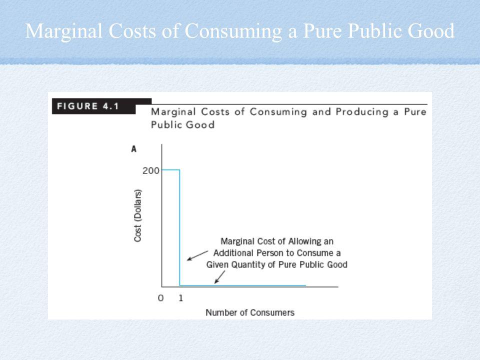 Marginal Costs of Consuming a Pure Public Good