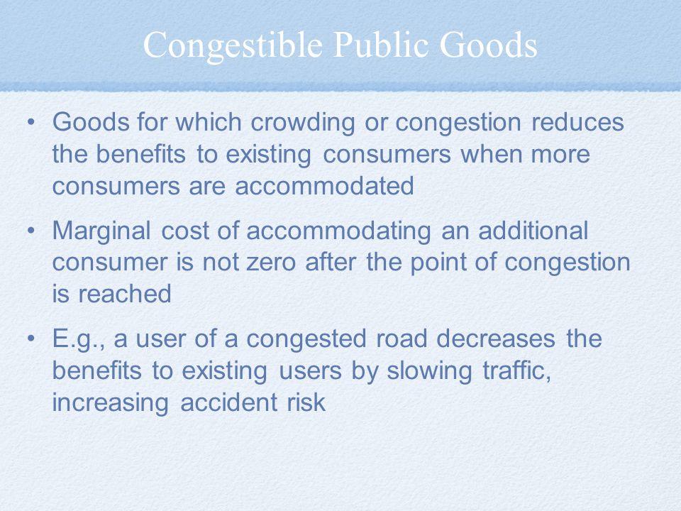 Congestible Public Goods