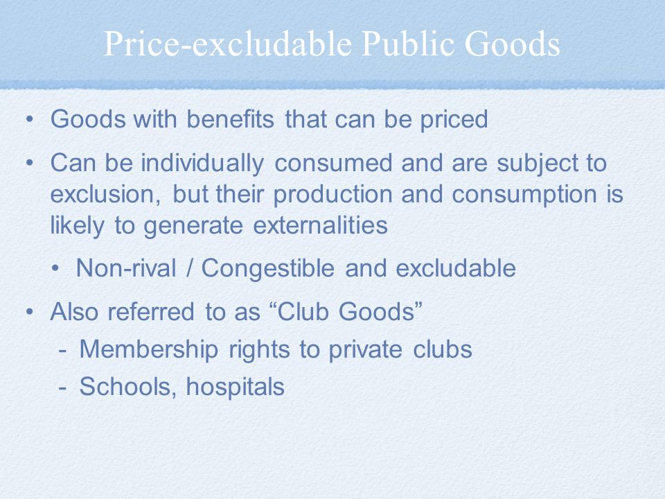 Price-excludable Public Goods