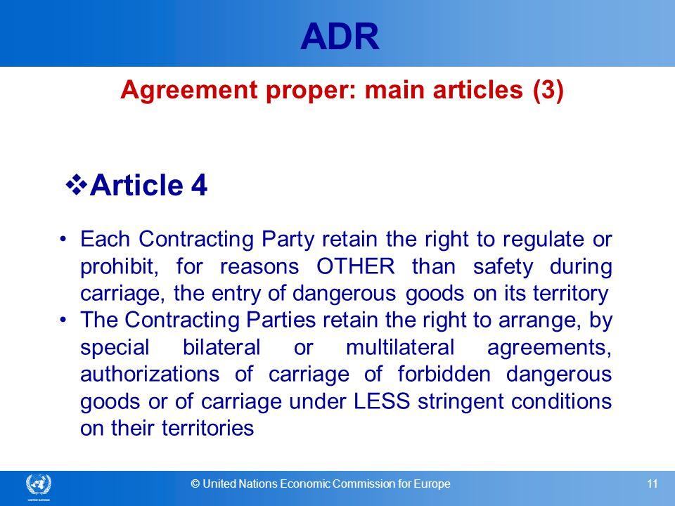 Agreement proper: main articles (3)