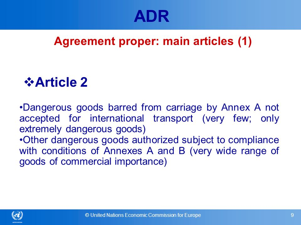 Agreement proper: main articles (1)