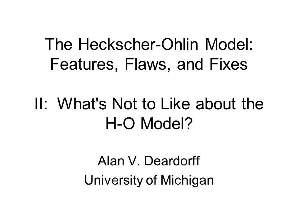 Alan V. Deardorff University of Michigan