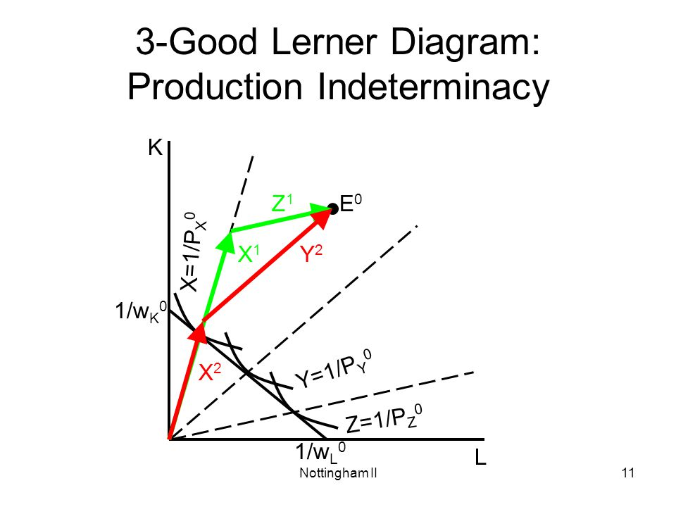 3-Good Lerner Diagram: Production Indeterminacy