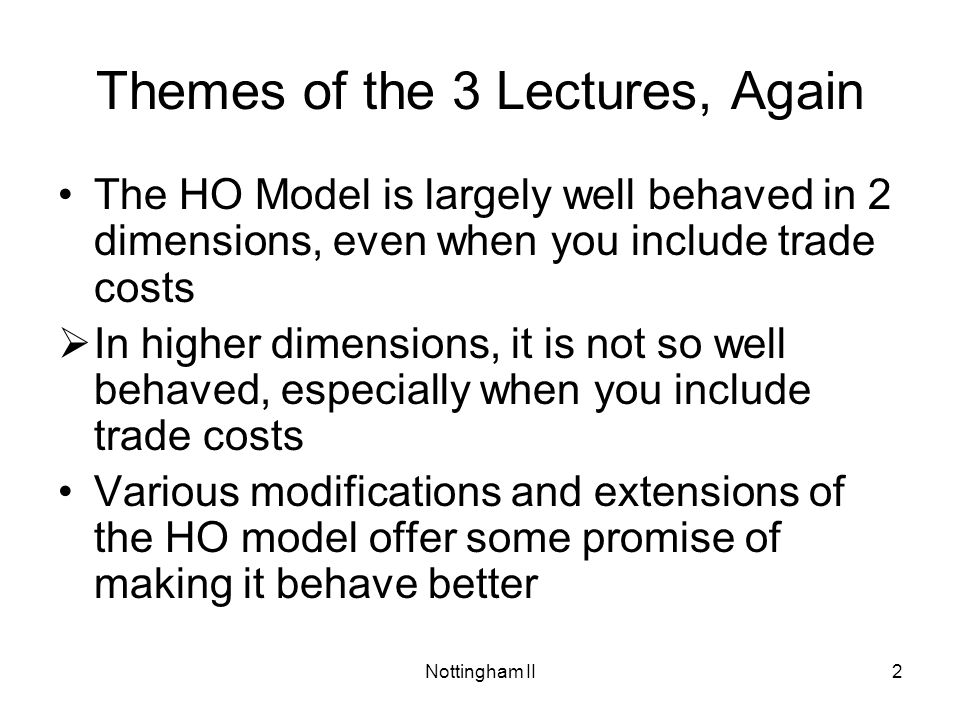 Themes of the 3 Lectures, Again