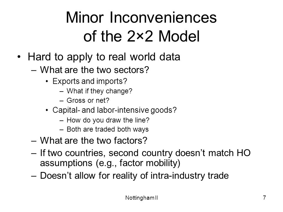 Minor Inconveniences of the 2×2 Model