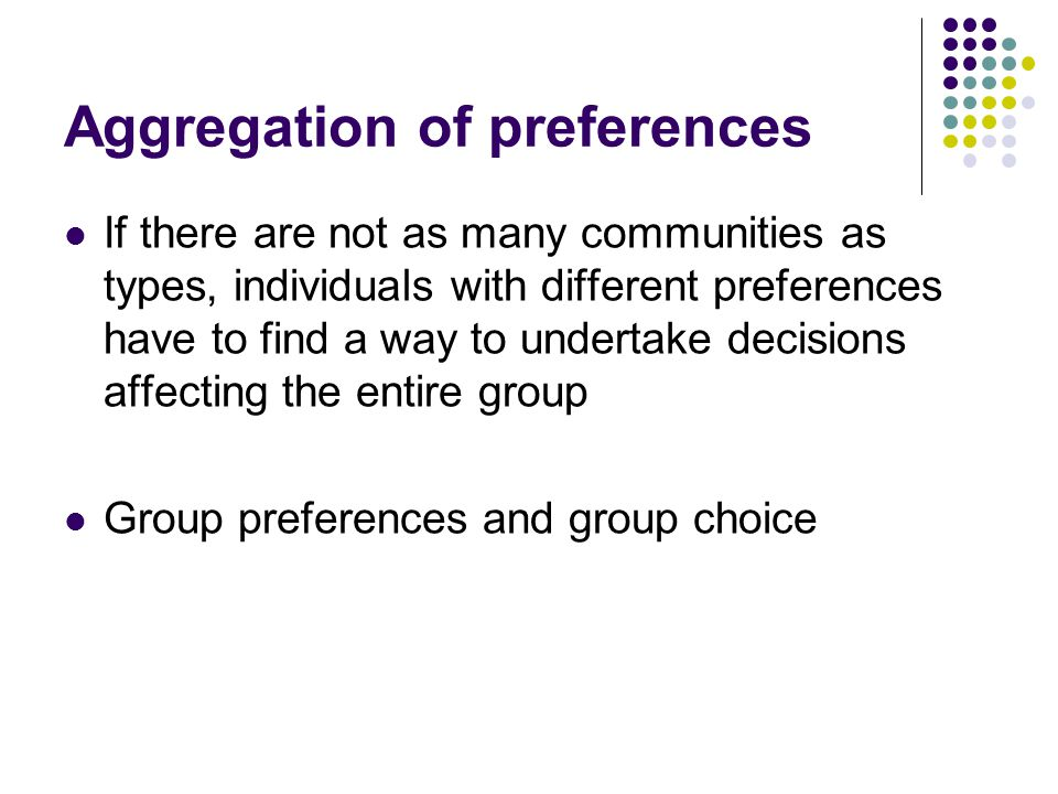 Aggregation of preferences