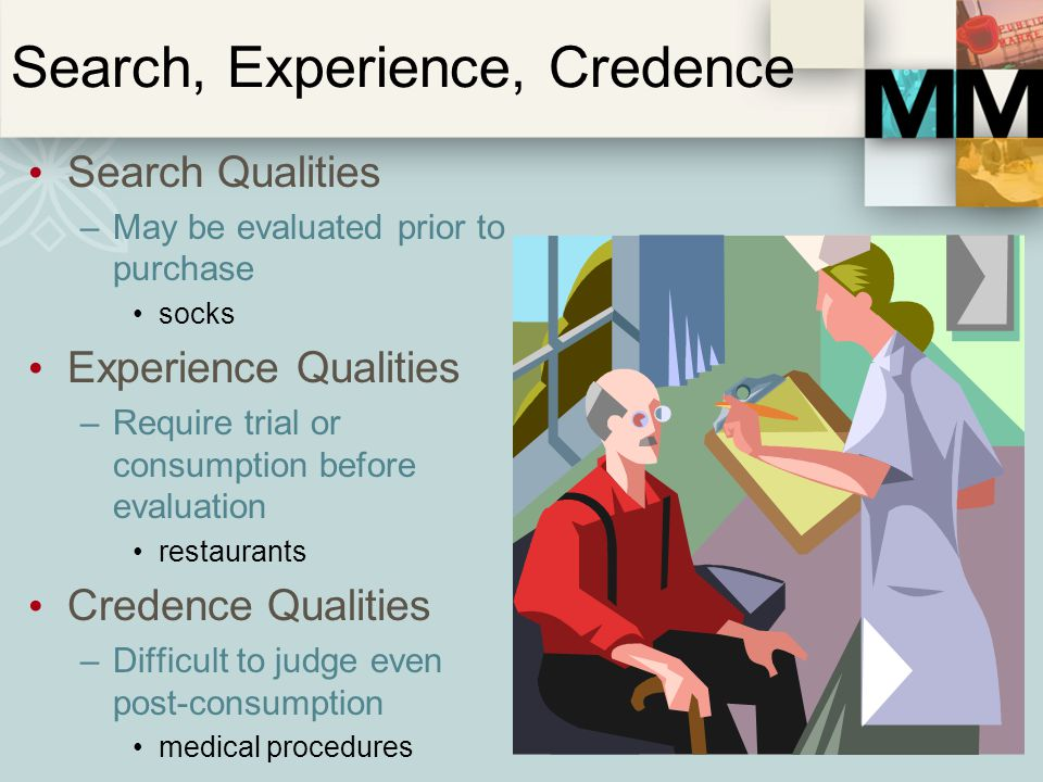 Search, Experience, Credence