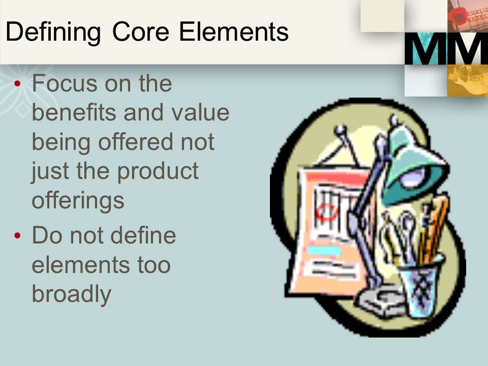 Defining Core Elements