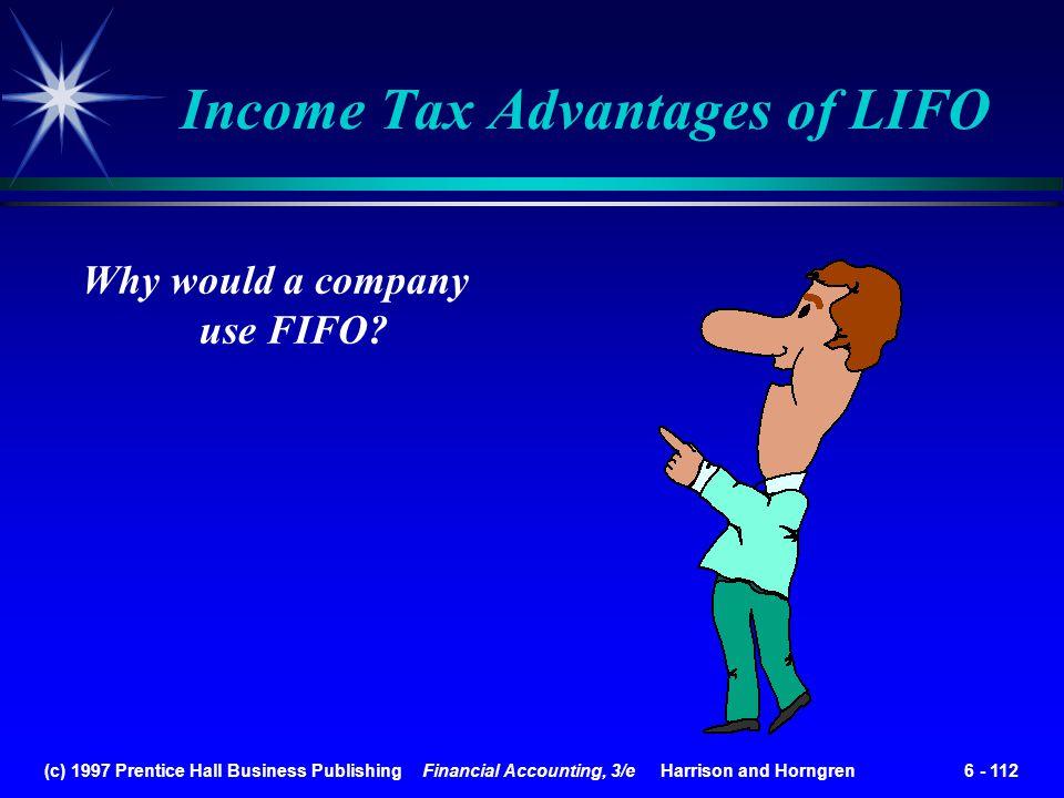 Income Tax Advantages of LIFO