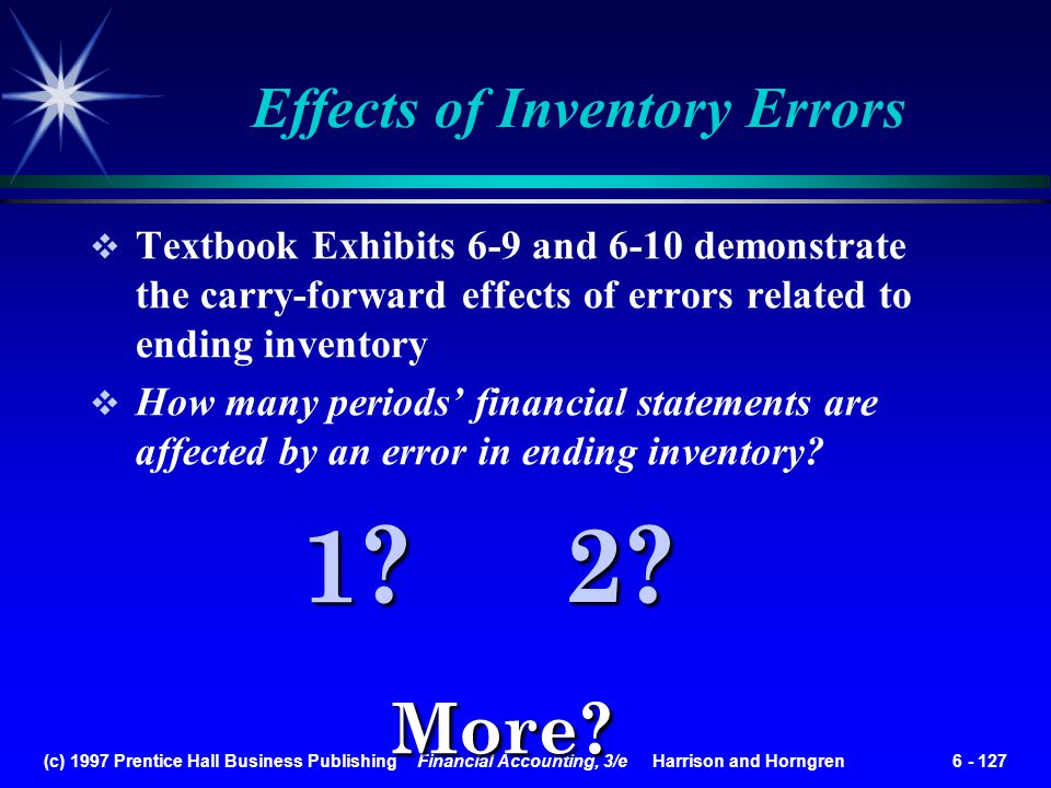 Effects of Inventory Errors