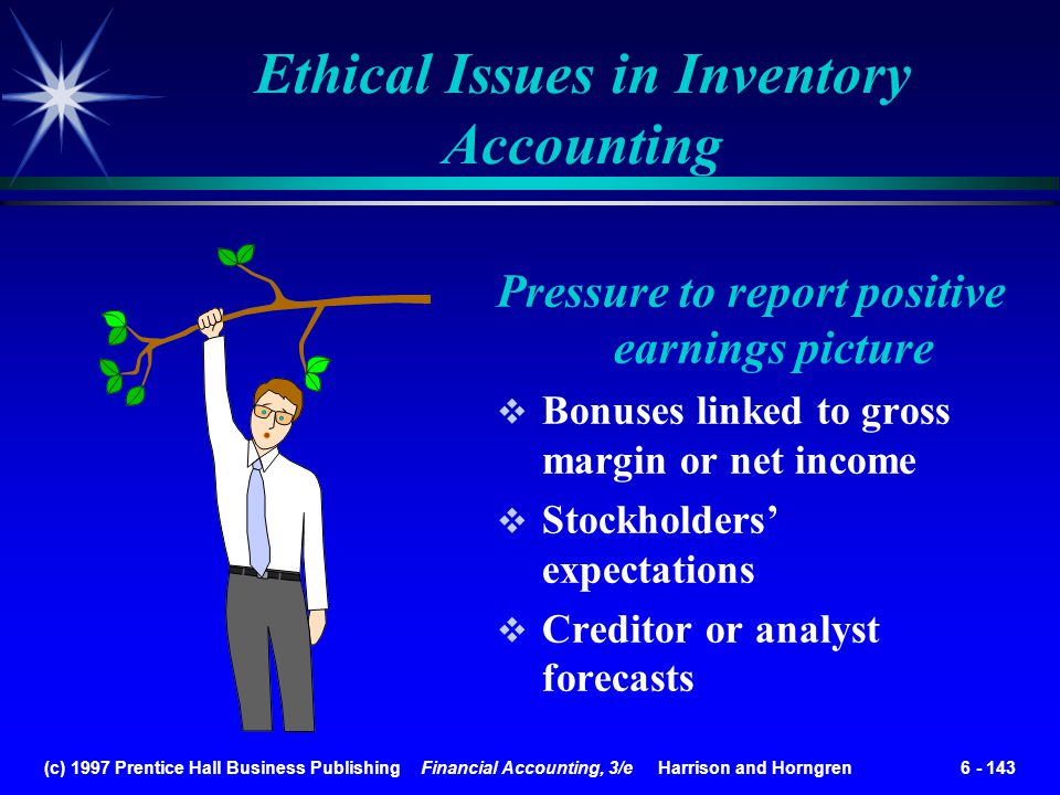 Ethical Issues in Inventory Accounting