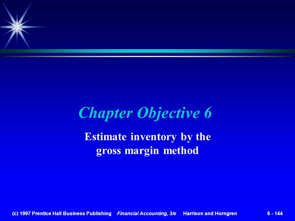 Estimate inventory by the gross margin method