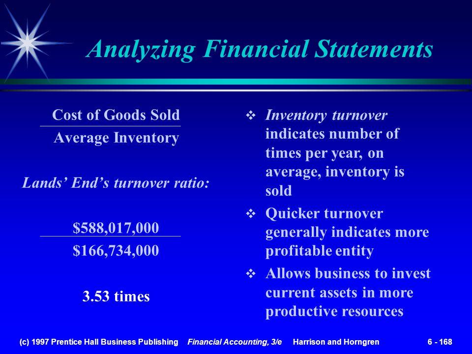 Analyzing Financial Statements