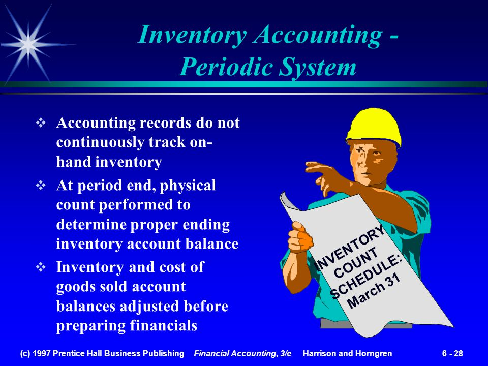 Inventory Accounting - Periodic System