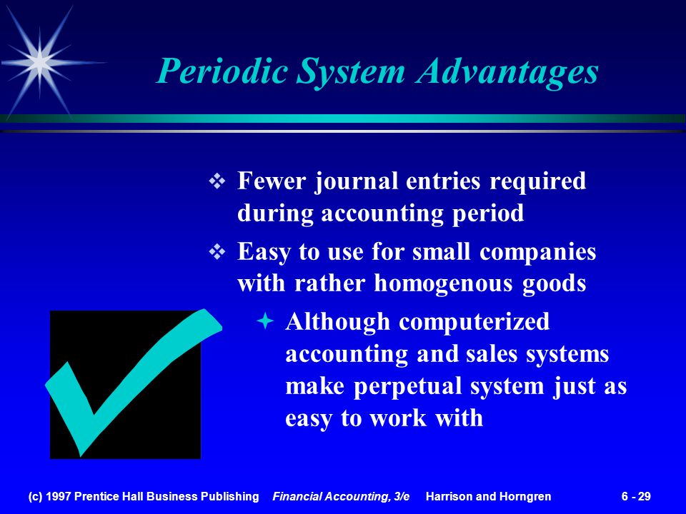Periodic System Advantages