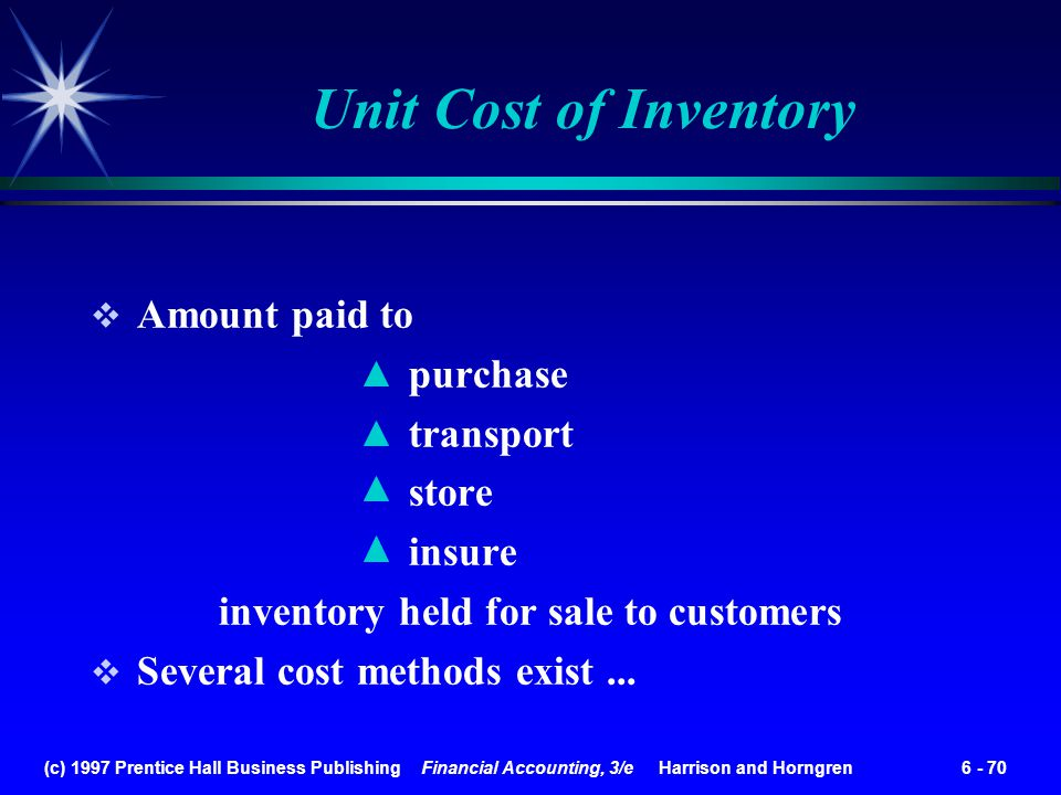 inventory held for sale to customers