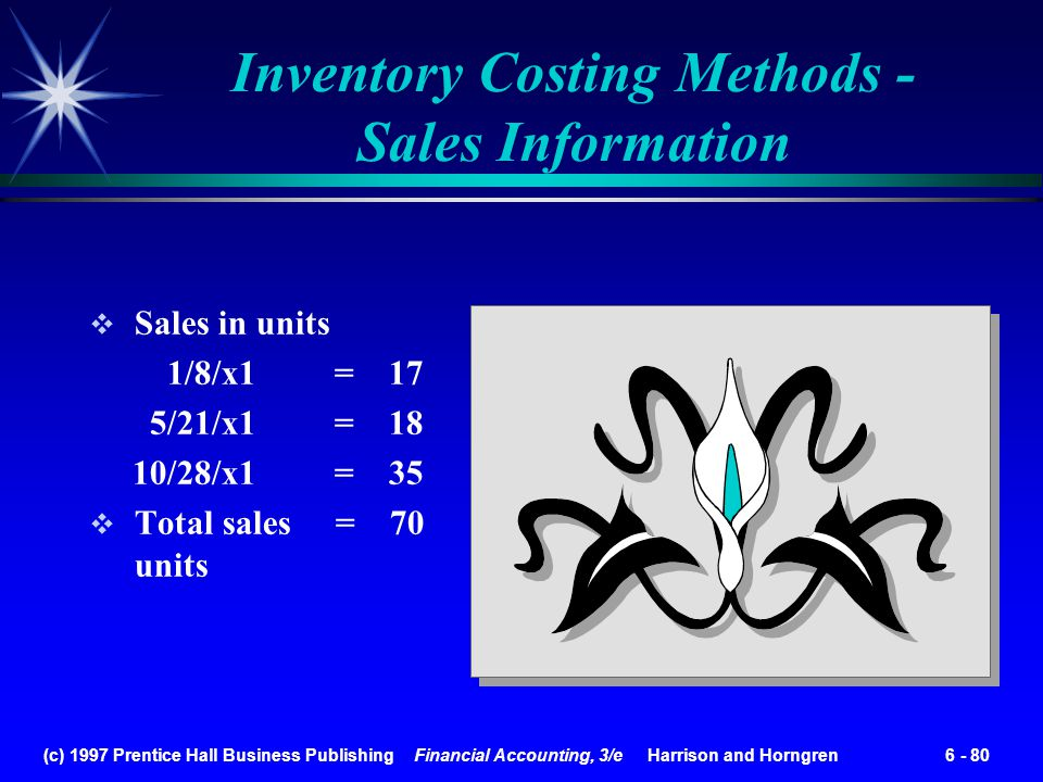 Inventory Costing Methods - Sales Information