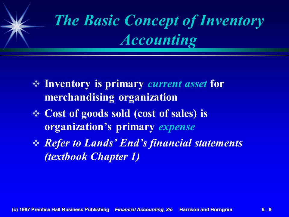 The Basic Concept of Inventory Accounting