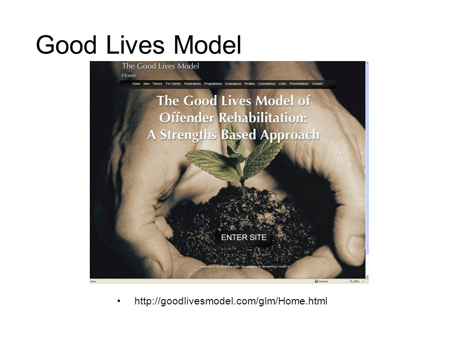 Good Lives Model http://goodlivesmodel.com/glm/Home.html
