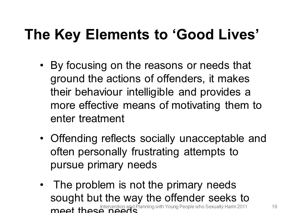 The Key Elements to 'Good Lives'