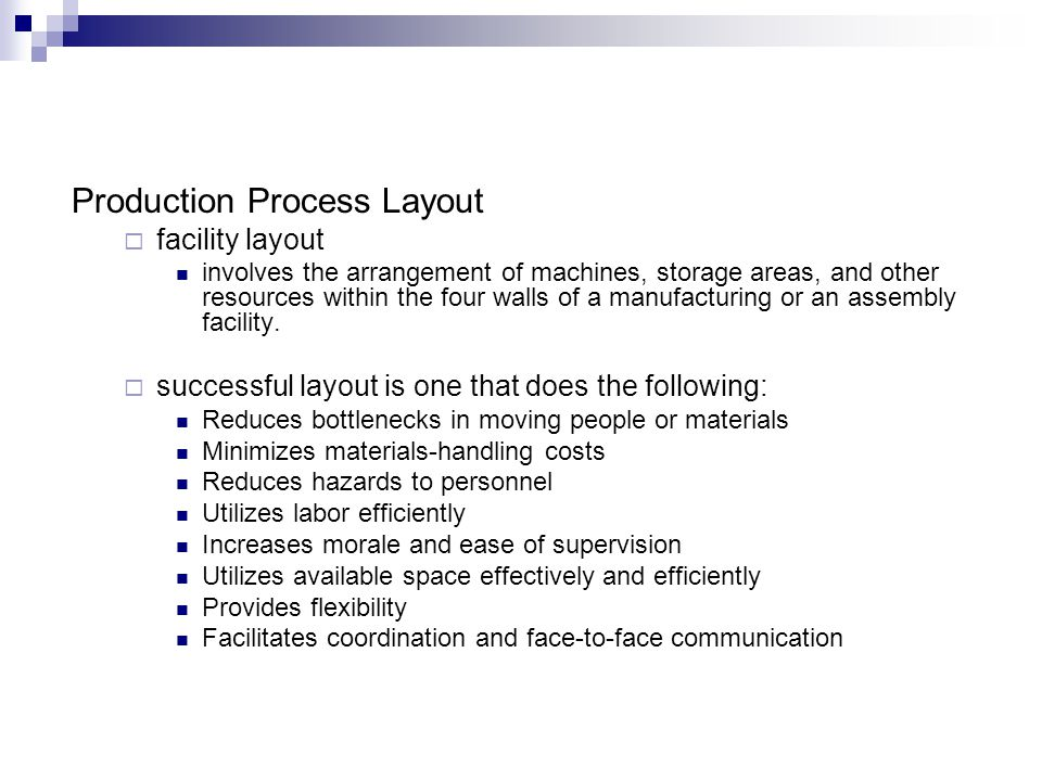 Production Process Layout