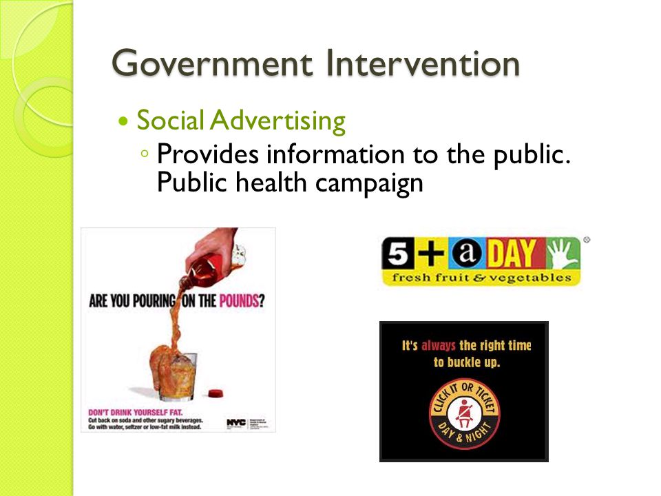 government intervension