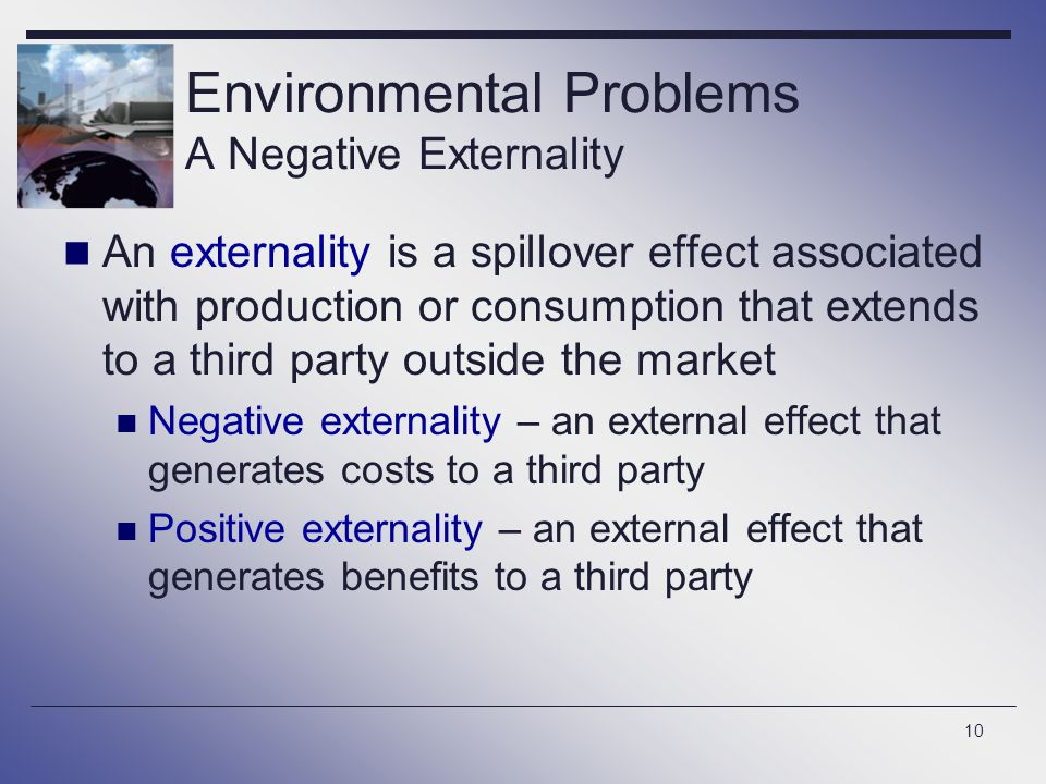Environmental Problems A Negative Externality