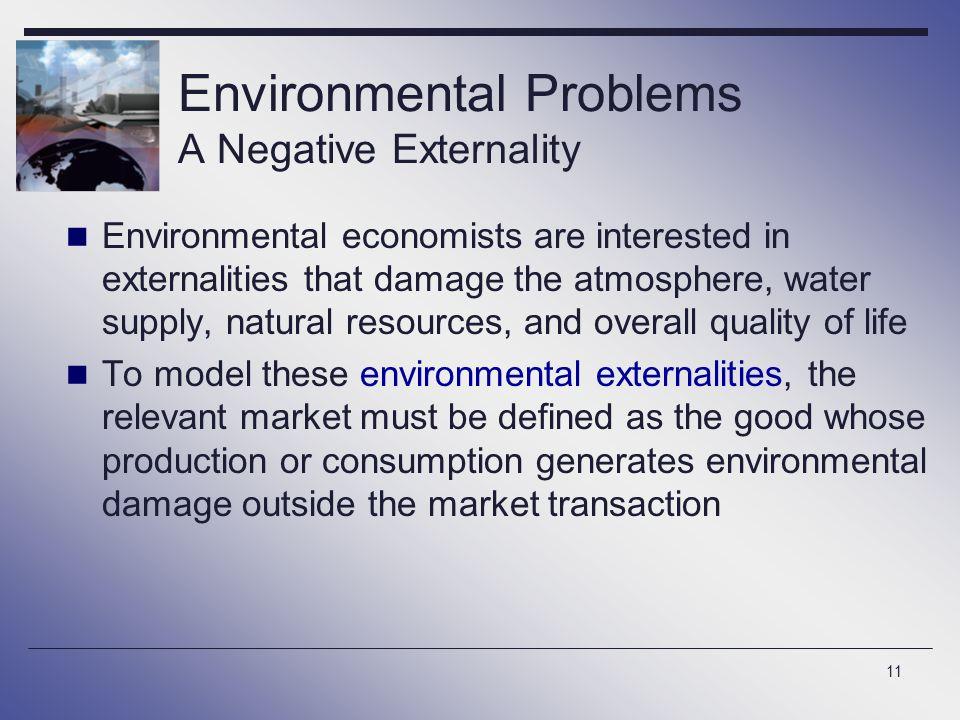 Environmental Problems A Negative Externality