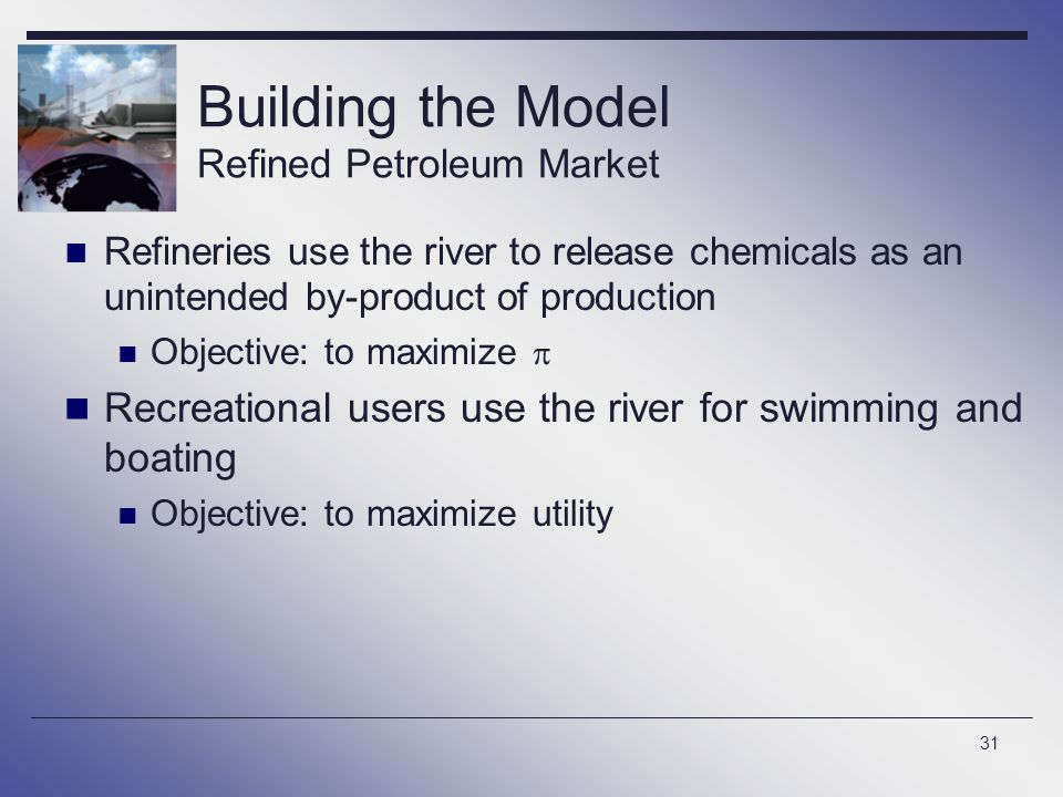 Building the Model Refined Petroleum Market