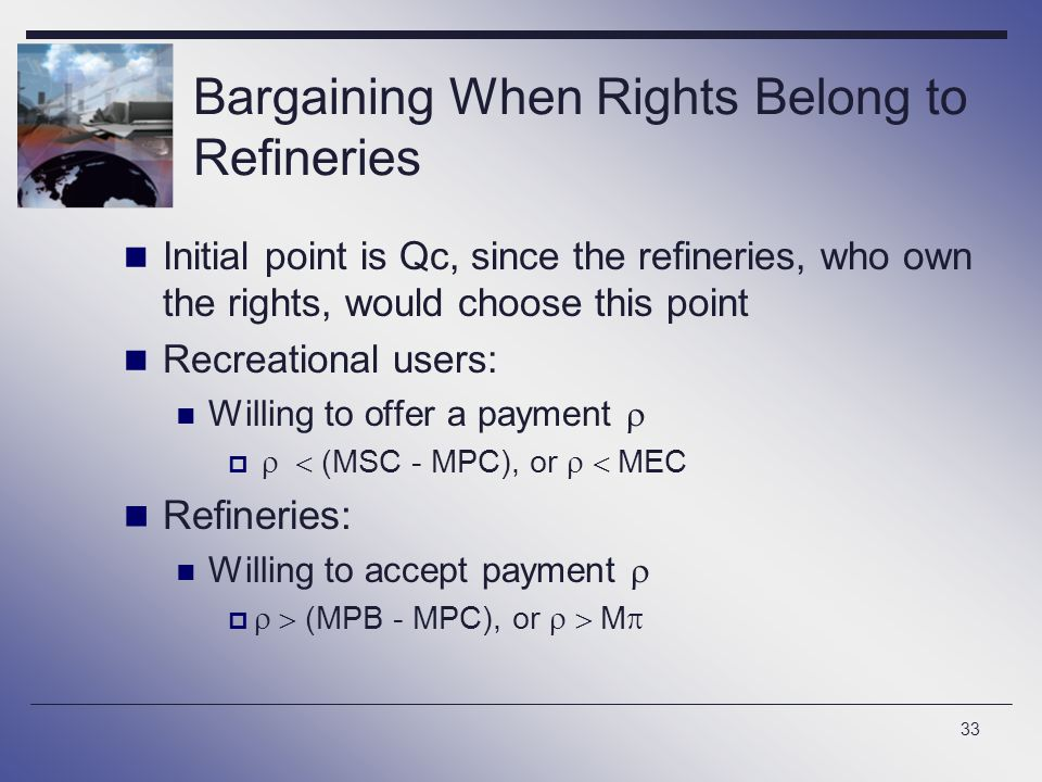 Bargaining When Rights Belong to Refineries
