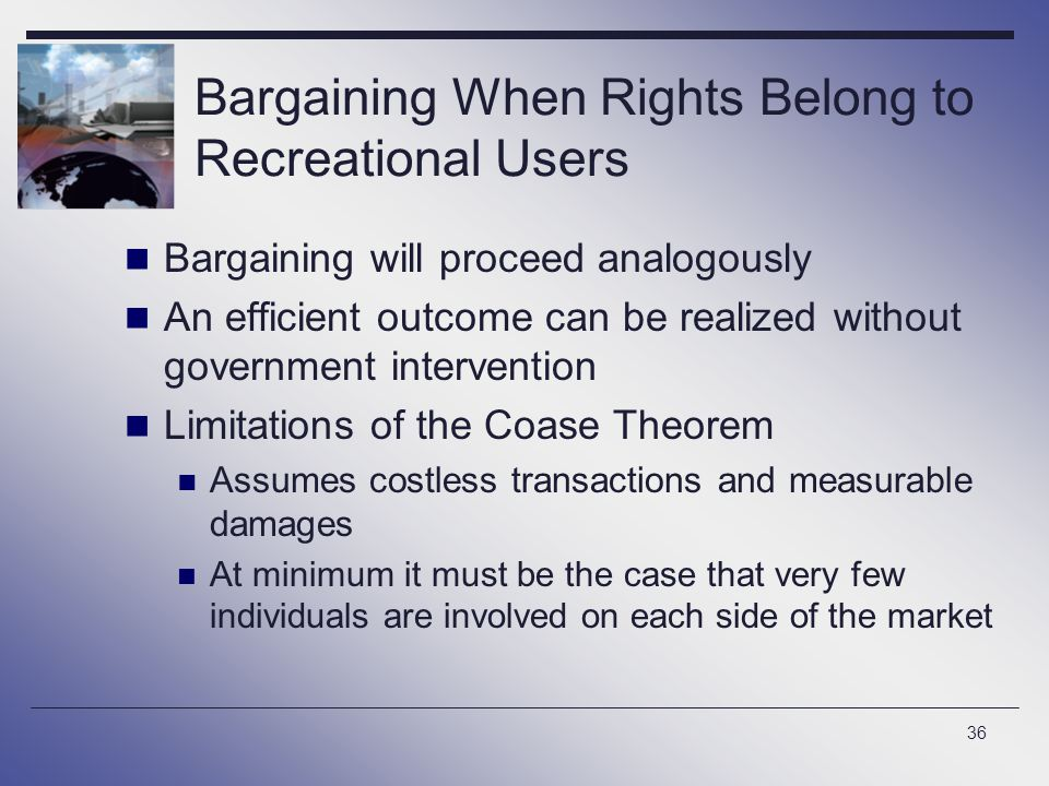 Bargaining When Rights Belong to Recreational Users