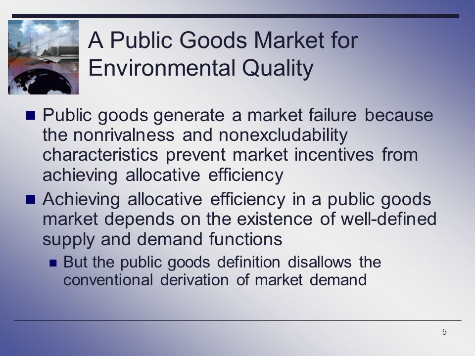 A Public Goods Market for Environmental Quality