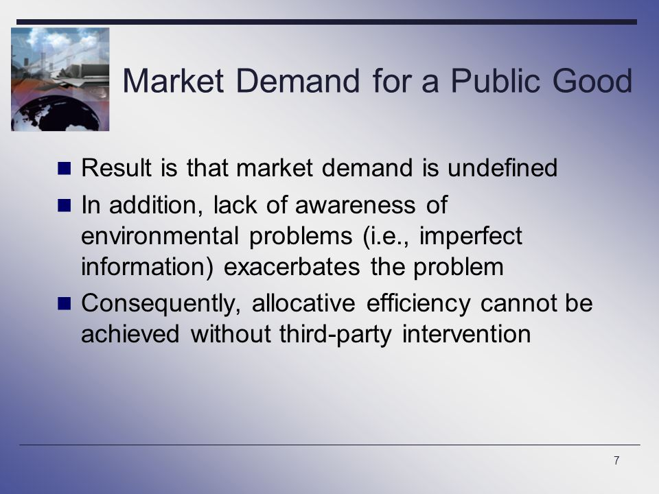 Market Demand for a Public Good