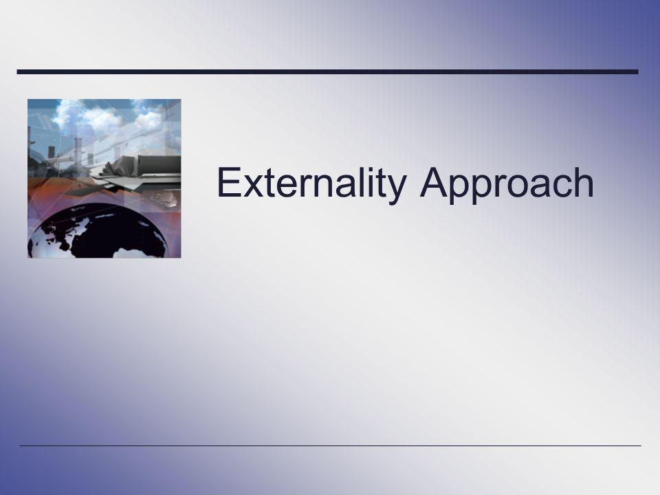 Externality Approach